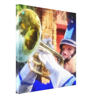 Trumpet Player in Marching Band Canvas Print