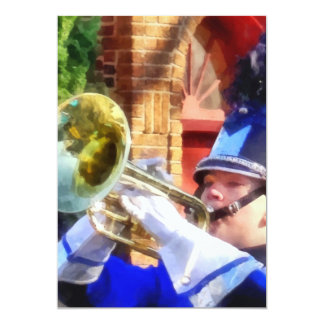 Trumpet Player in Marching Band Card