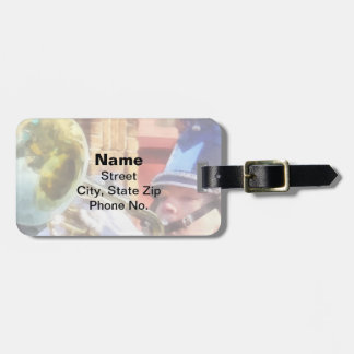 Trumpet Player in Marching Band Bag Tag