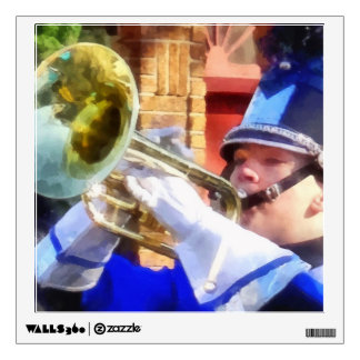 Trumpet Player in Marching Band Wall Sticker