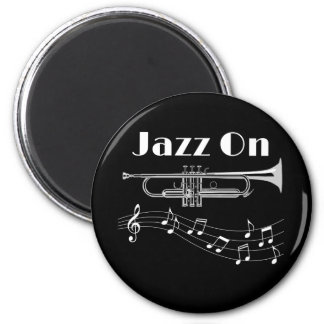 Trumpet Player Jazz On Magnet