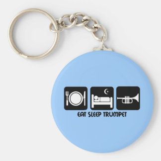 trumpet player keychain