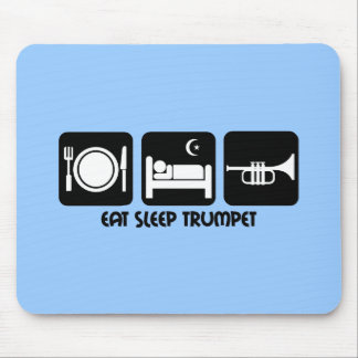 trumpet player mouse pad