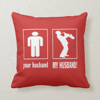 TRUMPET PLAYER - MY HUSBAND THROW PILLOW
