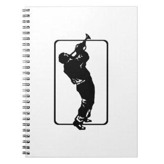 trumpet player outline park n blow black.png notebook