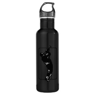 trumpet player outline park n blow black.png stainless steel water bottle