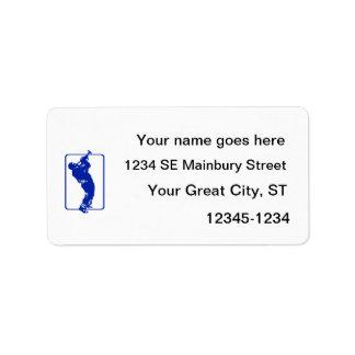 trumpet player outline park n blow blue.png address label