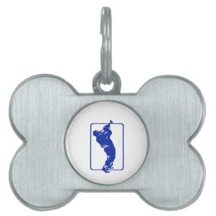 trumpet player outline park n blow blue.png pet ID tag