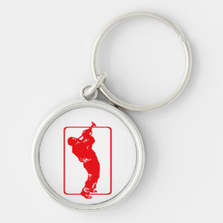 trumpet player outline park n blow red.png keychain