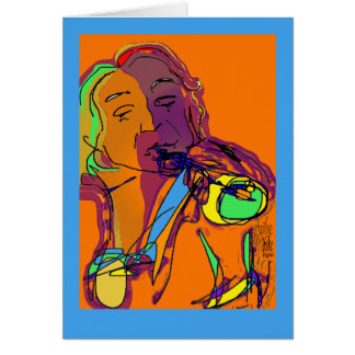 Trumpet Player...Play that funky music! Card