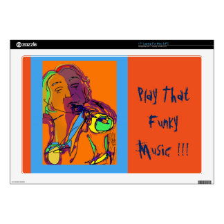 Trumpet Player...Play that funky music! Laptop Skin