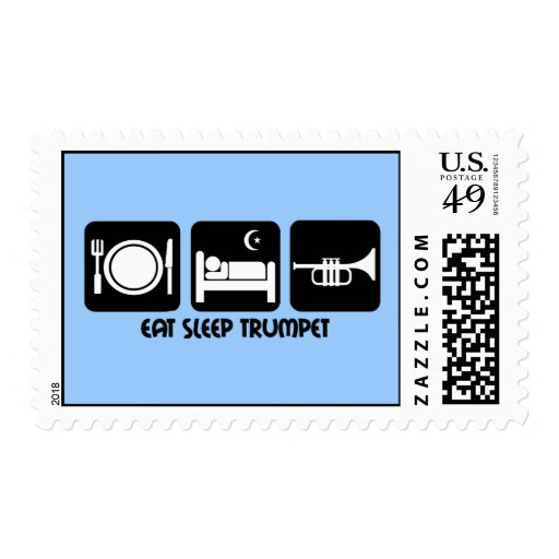trumpet player postage stamps