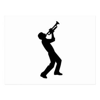 Trumpet player postcard
