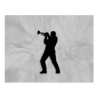 trumpet player postcards. Black Bedroom Furniture Sets. Home Design Ideas