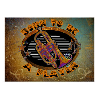 Trumpet Player Poster