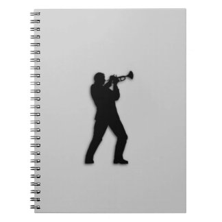 Trumpet Player Silver Notebook