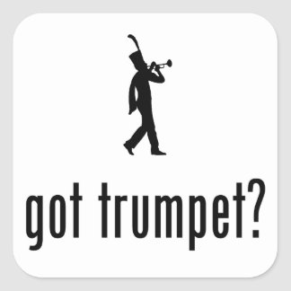 Trumpet Player Sticker