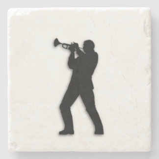 Trumpet Player Stone Coaster