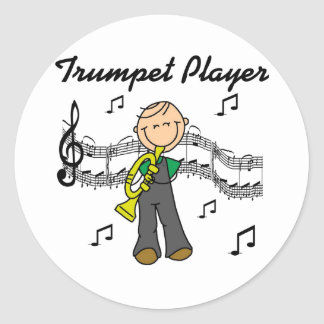Trumpet Player T-shirts and Gifts Classic Round Sticker