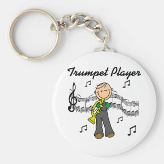 Trumpet Player T-shirts and Gifts Keychain