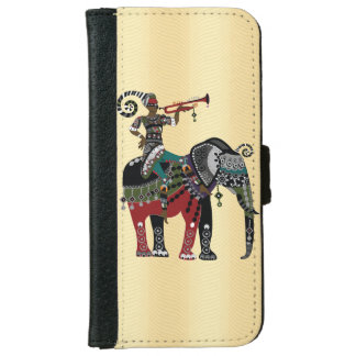 Trumpet Player Wallet Phone Case For iPhone 6/6s