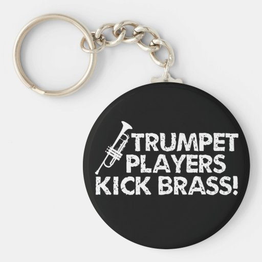 Trumpet Players Kick Brass! Keychains