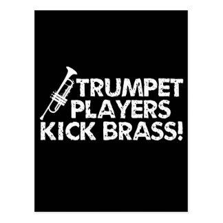 Trumpet Players Kick Brass! Postcard