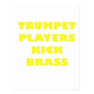 Trumpet Players Kick Brass Postcard