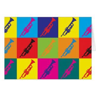 Trumpet Pop Art Card