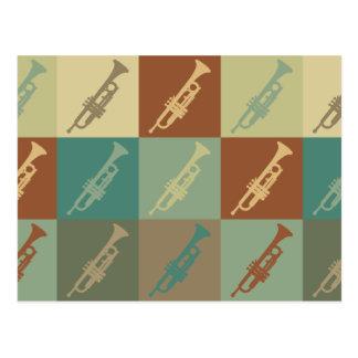 Trumpet Pop Art Postcard