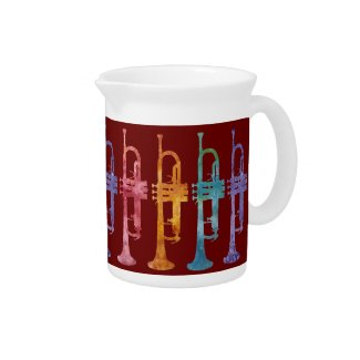 Trumpet Rainbow Band Drink Pitchers