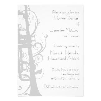 Trumpet Recital Invitation