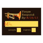 Trumpet Response Card Invitations