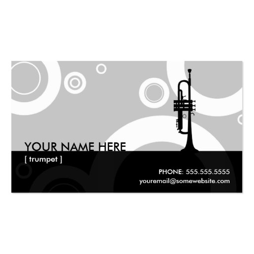 trumpet rings business card