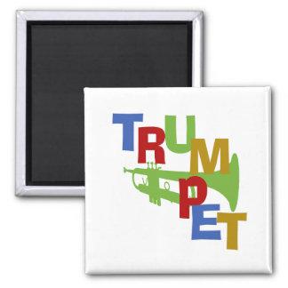 Trumpet Scramble 2 Inch Square Magnet