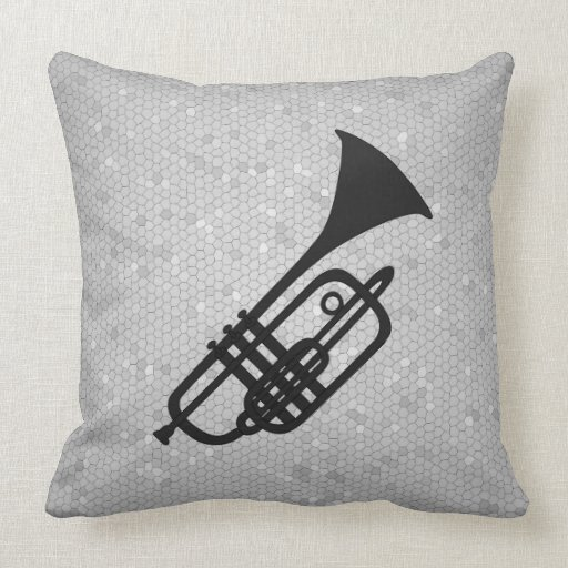 Trumpet silhouette pillow