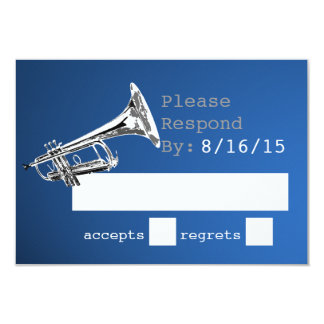 Trumpet Silver and Blue Response Card