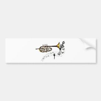 Trumpet Simple Sketch 2 Bumper Sticker