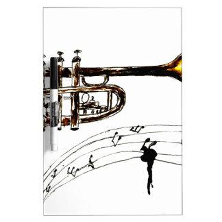 Trumpet Simple Sketch 2 Dry Erase Board