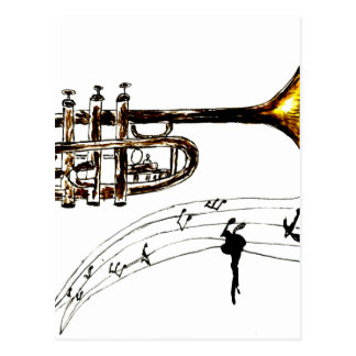 Trumpet Simple Sketch 2 Postcard