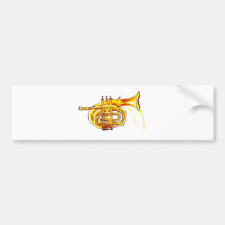 Trumpet Simple Sketch Bumper Sticker