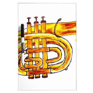 Trumpet Simple Sketch Dry Erase Board