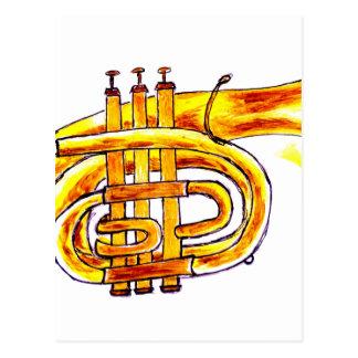 Trumpet Simple Sketch Postcard