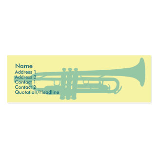 Trumpet - Skinny Double-Sided Mini Business Cards (Pack Of 20)
