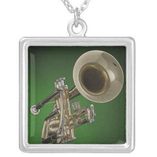 Trumpet Square Necklace