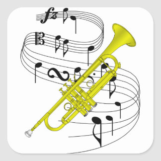 Trumpet Square Sticker