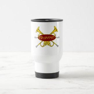 Trumpet Tribal Design Travel Mug