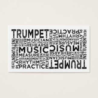 Trumpet Typography Business Card