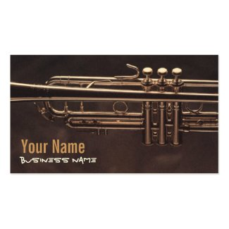 Trumpet Valves Place Card / Business Card Template