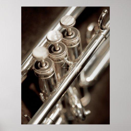 trumpet valves poster